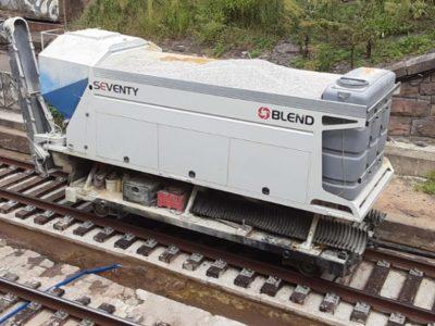 Planta de hormigón ferroviaria